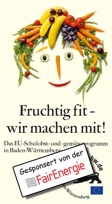 Schulfrucht Logo mit Sponsor